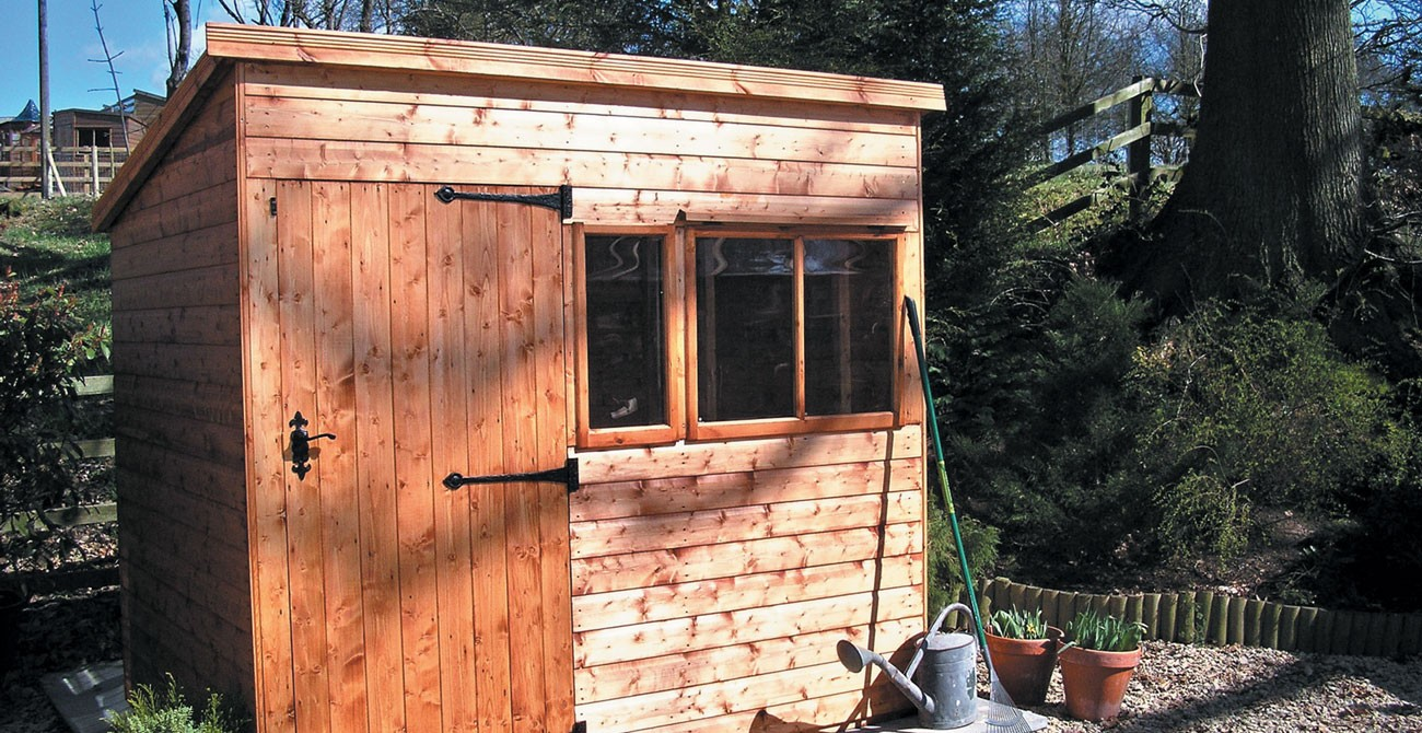 Shed with windows