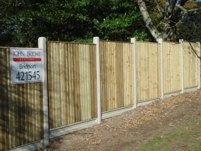 Tanalised closeboard panels