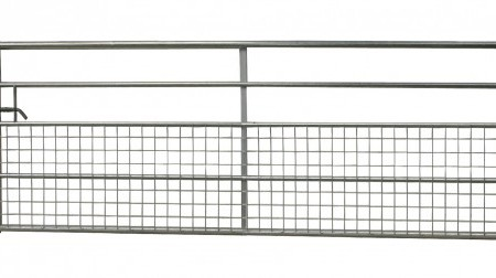5 Rail Box End Half Mesh Gate