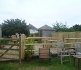 Post and Three Rail Fence