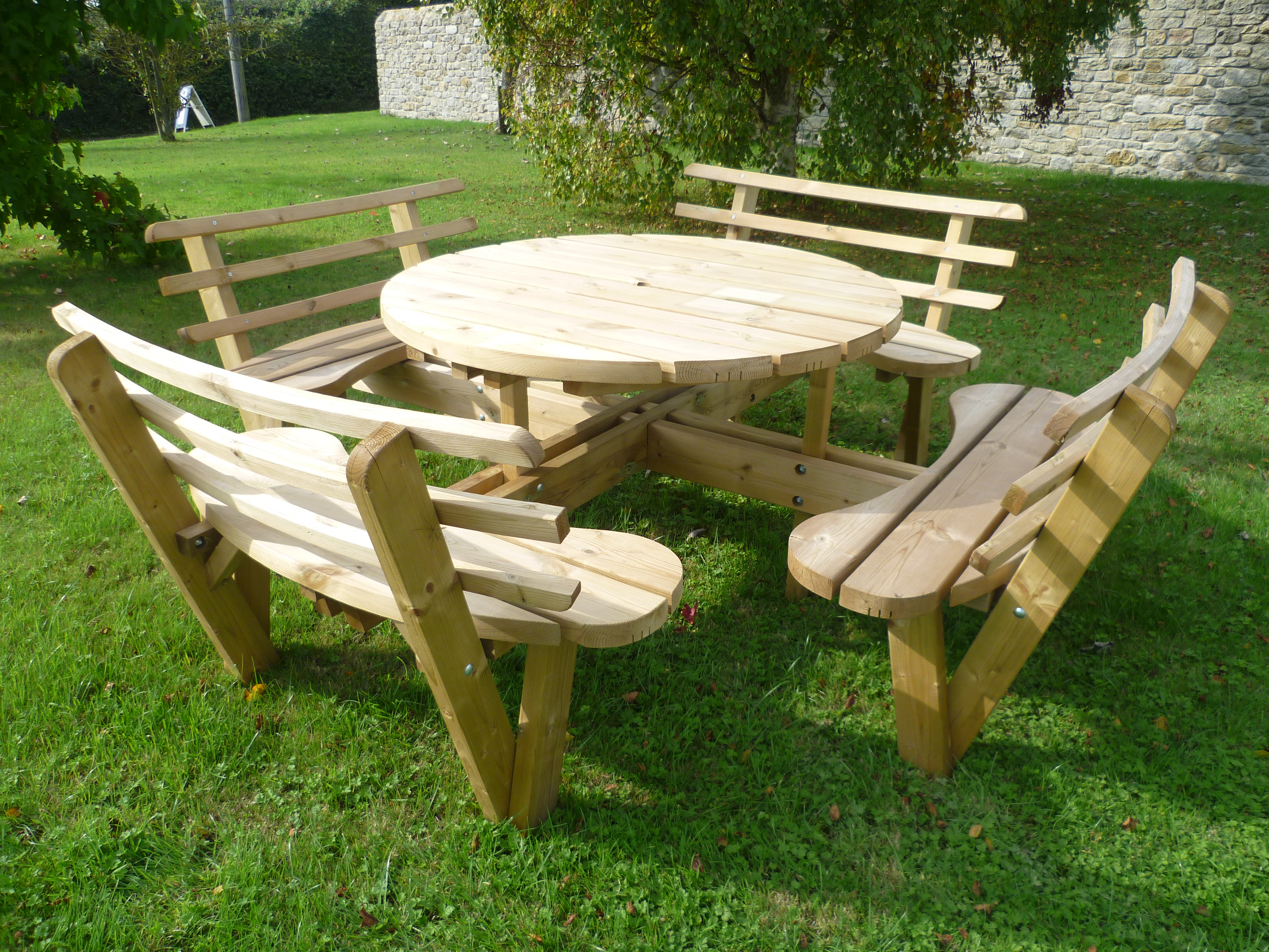 picnic table circular john bright fencing. Black Bedroom Furniture Sets. Home Design Ideas