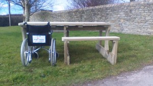 wheelchair friendly picnic table