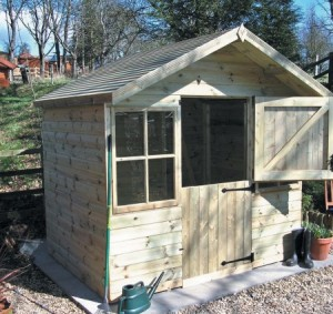 Shed with stable door and window