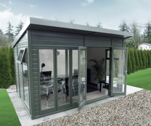 Contemporary style square summerhouse