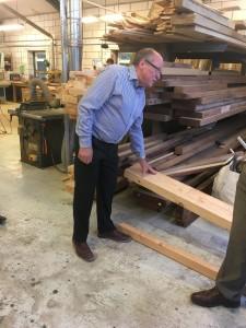 Man talking about wood
