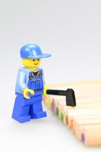 Lego workman with tool