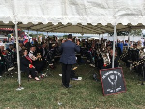 Brass band at country show