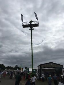Scarecrow on a crane