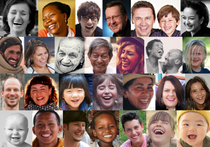 Compilation of smiling people