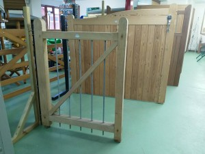 wooden bar gate