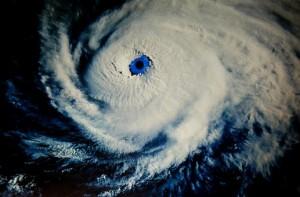 hurricane meteorological aerial shot