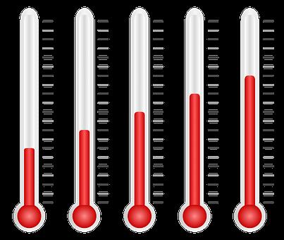 Decreasing thermometer readings