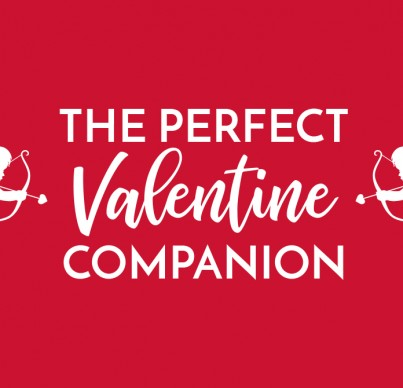 Valentine header with cupids