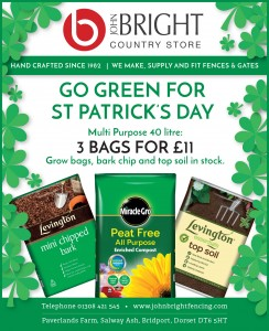 St Patrick's Day compost promotion press ad