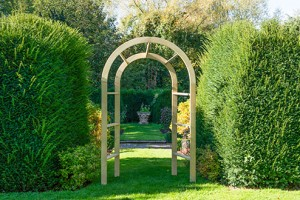 Infinity wooden arch