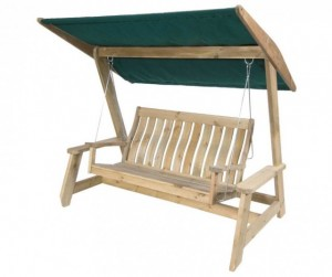 Farmers wooden swing seat