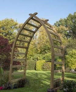 Whitby wooden garden arch