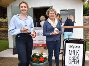 Women holding milk