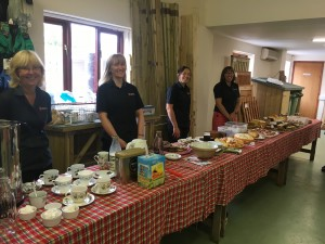 Coffee morning cake stall