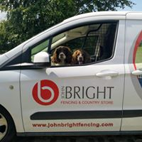 John Bright van with dogs inside