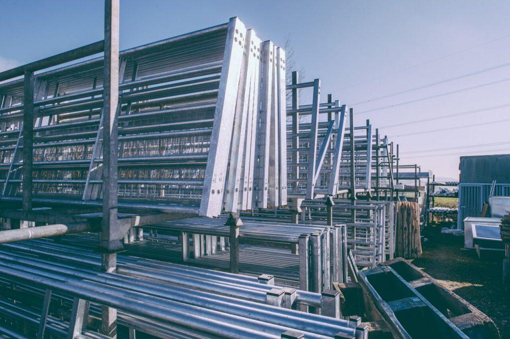 IAE products. Galvanised gates.