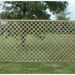 Oxbridge trellis fencing panel
