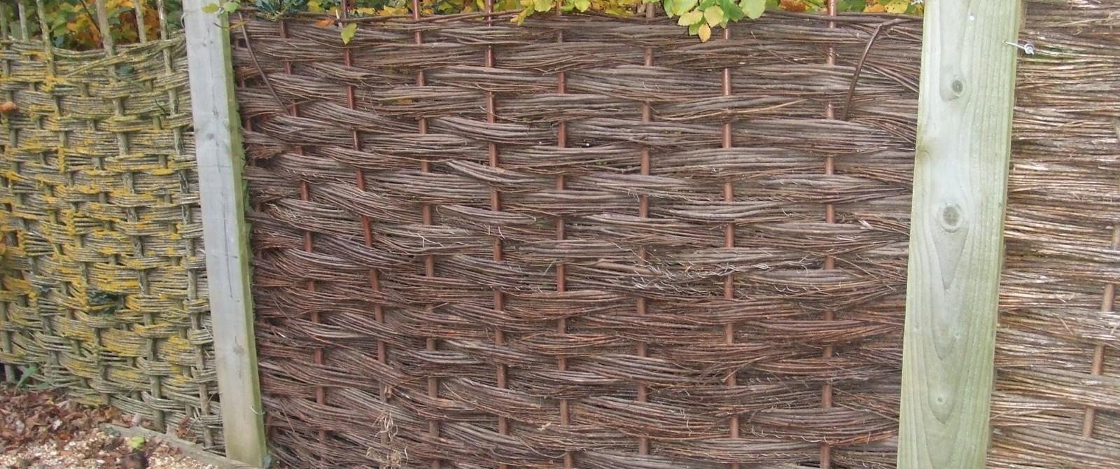 Willow Fence Panels. John Bright Fencing Dorset