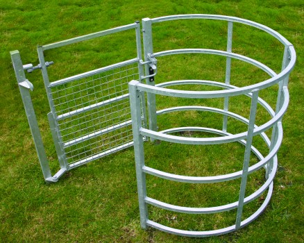 Galvanised kissing gate