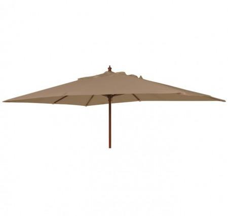 Parasol Hardwood Taupe 3m