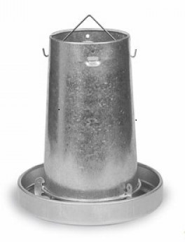 Galvanised Poultry Feeder